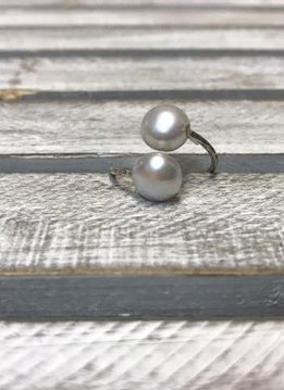 Fresh Water Pearl and Sterling Silver Ring