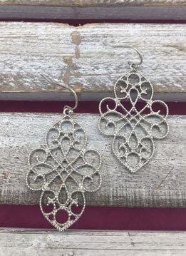 Silver Unique Filigree Earrings