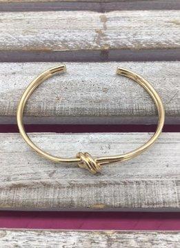 Love Knot Gold Cuff Bracelet