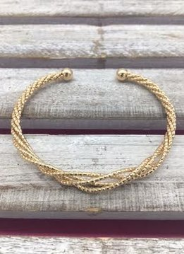 Gold Twist Cuff Bracelet