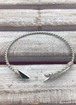 Silver Arrow Cuff Bracelet