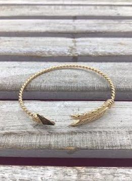 Gold Arrow Cuff Bracelet