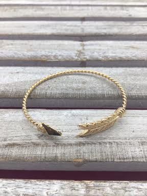 Gold Arrow Cuff Bracelet