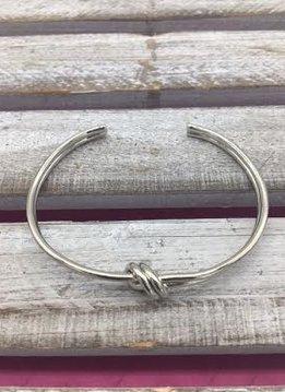 Love Knot Silver Cuff Bracelet