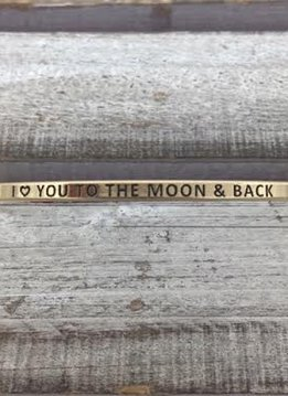 I Love You To The Moon & Back Gold Bracelet
