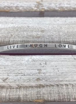 Live Laugh Love Silver Bracelet