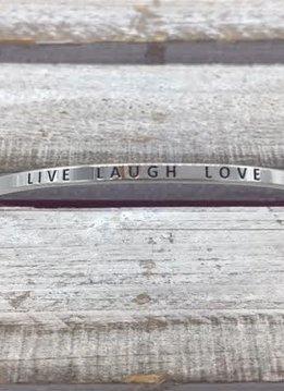 Live Laugh Love Silver Bracelet