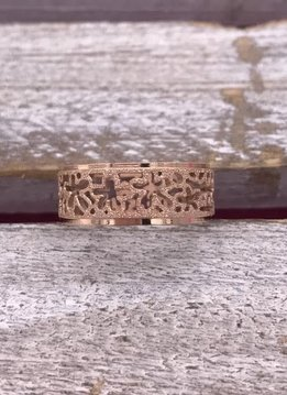 Stainless Steel Rose Gold Flower Band