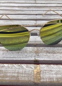 Fashion Aviator Sunglasses Green