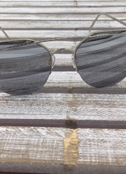 Fashion Aviator Sunglasses Silver