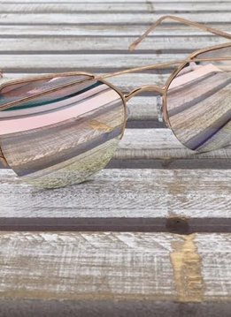 Fashion Aviator Sunglasses Rose Gold