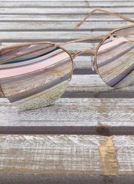 Fashion Aviator Sunglasses Rose Gold