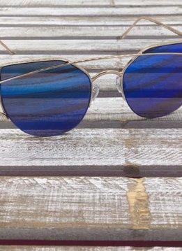 Fashion Aviator Sunglasses Blue