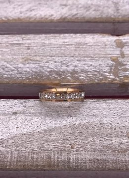Stainless Steel Rose Gold Cubic Zirconia Band
