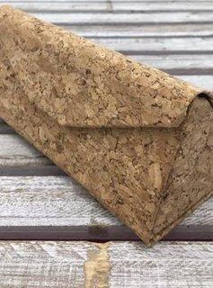 Pyramid Folding Cork Sunglasses Case