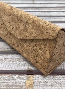 Pyramid Folding Cork Sunglasses Case