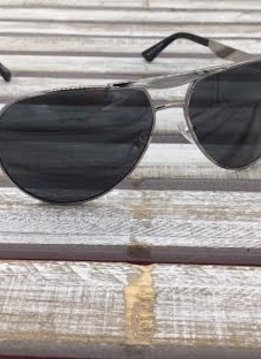Polarized Aviator Sunglasses Silver