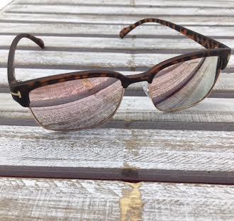 Polarized Square Lenses Sunglasses Tortoise Shell Pink