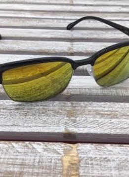 Polarized Square Lenses Sunglasses Black Yellow