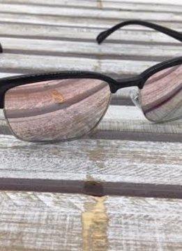 Polarized Square Lenses Sunglasses Black Pink