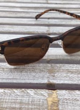 Polarized Square Lenses Sunglasses Tortoise Shell Brown