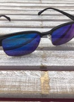 Polarized Square Lenses Sunglasses Black Blue Purple