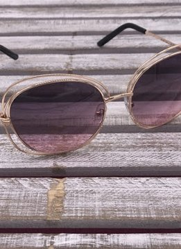 Rose Gold Frame with Purple Lenses