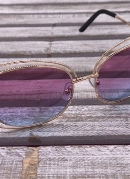 Rose Gold Frame with Pink on Top and Blue on Bottom Lenses