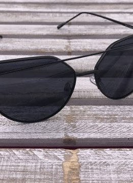 Black Cat Eye Frame Sunglasses with Black Lenses