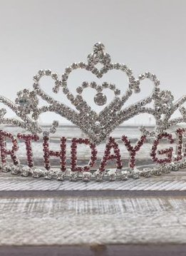 Silver and Pink Birthday Girl Tiara