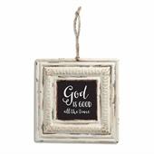 God is Good Tin Sign