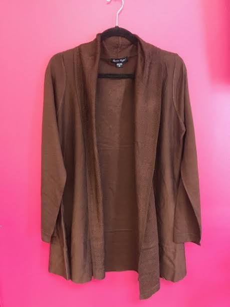 Brown Soft Knit Cardigan