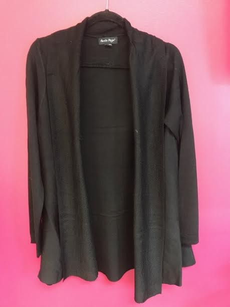 Black Soft Knit Cardigan