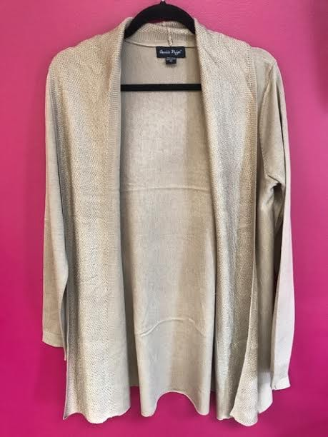 Beige Soft Knit Cardigan