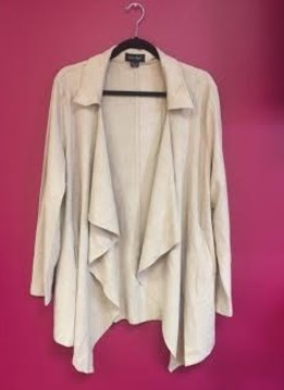 Faux Suede Pink Trench Coat