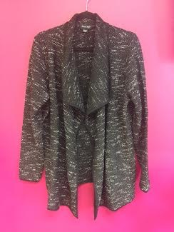 Black French Terry Cardigan