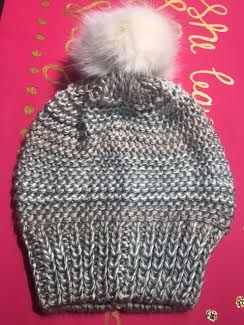 Muted Colors Ombre Knit Hat