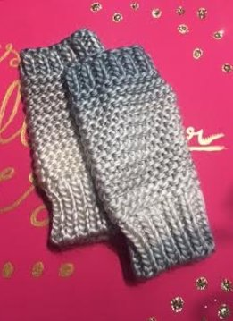 Muted Colors Ombre Knit Gloves