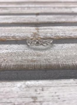 Sterling Silver Infinity Band with Cubic Zirconia