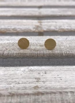 Stainless Steel Gold Circle Earrings