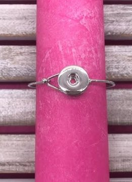 Silver Simple Snap Bangle Bracelet