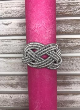 Magnetic Braided Silver Bracelet