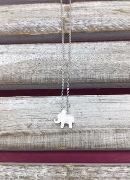 Petite Silver Elephant Necklace