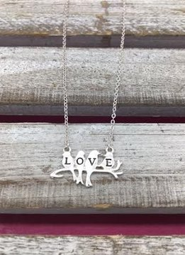 Silver Mini Love Bird Necklace