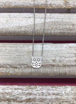 Silver Simple Mini Owl Necklace