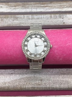 Silver Glitter Dial Bangle Watch