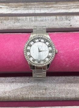Silver Glitter Dial Bangle Watch