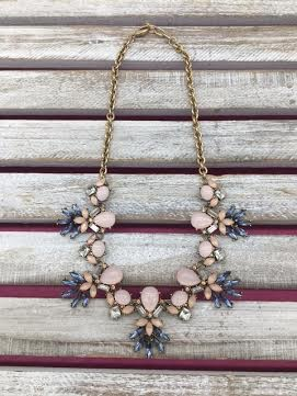 Pink Enamel Gold Necklace