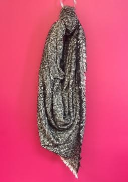 Black Heathered Blanket Scarf