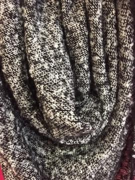 Black Heathered Blanket Scarf